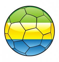 gabon flag on soccer ball vector image vector image