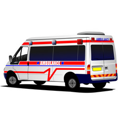 Modern ambulance van over white colored vector