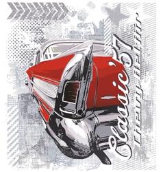 vintage car 57 vector image vector image