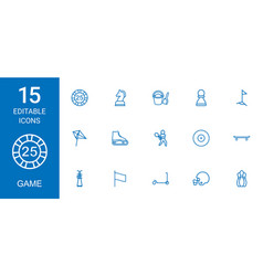 15 game icons vector