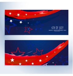 4th july banners collection vector image