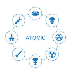 8 atomic icons vector