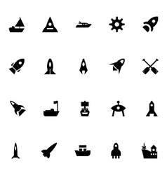 Aircraft and Ships Icons 3 vector image