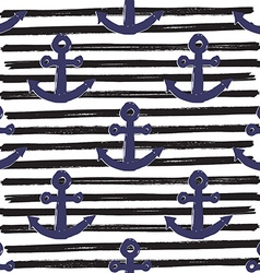 Anchor on Lines Seamless Pattern vector