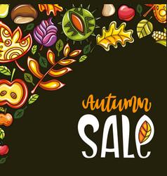 autumn sale corner vector image vector image