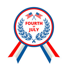 badge for independence day of usa july fourth vector image