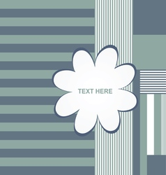banner flower empty in blue color text vector image