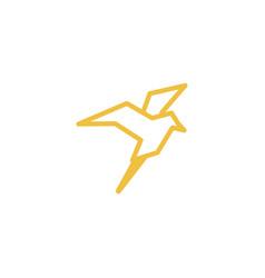 bird logo icon graphic template vector image