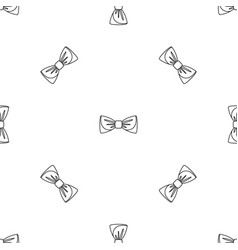 bow tie pattern seamless vector image