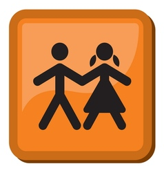 Boy and Girl icon vector