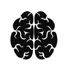 Brain icon simple style vector