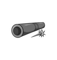Brass tube with darts icon black monochrome style vector