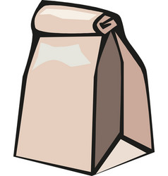 brown paper bag eps 10 vector image