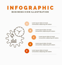business engineering management process vector image