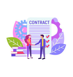 Business partners agreement vector