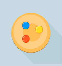 Candy cookie icon flat style vector