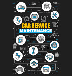 Car service center maintenance and diagnostics vector