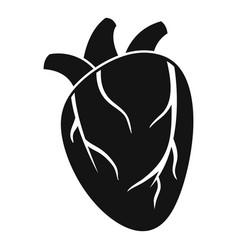 cardiac human heart icon simple style vector image