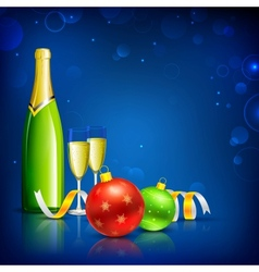 Champagne Glass for Christmas Celebration vector