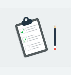 checklist icon clipboard checklist with pencil vector image