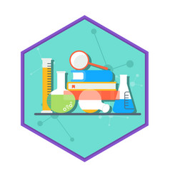 chemical laboratory tube set vector image