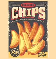 chips vintage poster image vector image