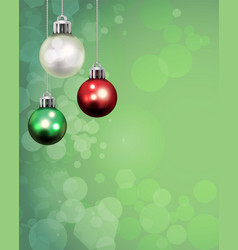 Christmas holiday ornaments template background vector