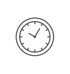 clock line icon or time concept vector image