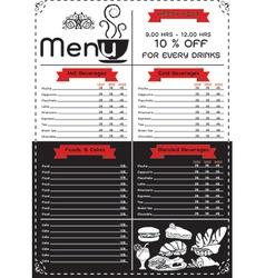 Coffee menu vector