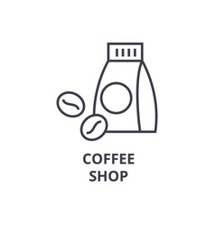coffee shop line icon outline sign linear symbol vector image