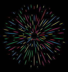 colorful holiday firework on night background vector image