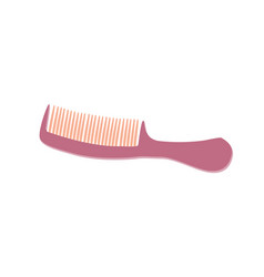 comb pink hair icon isolated brush hairbrush care vector image