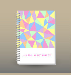 Cover of diary pastel colored polygonal pattern vector