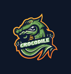 Crocodile esport gaming mascot logo template for vector