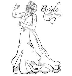 dancing bride vector image