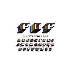 Decorative slab serif bulk font in retro style vector