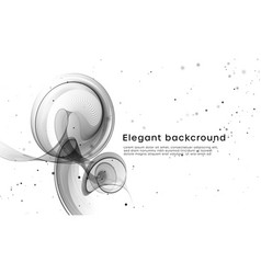 Elegant white background with black wave vibes vector