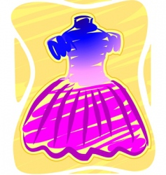 frock vector image