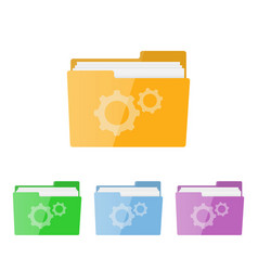gray setting icon vector image