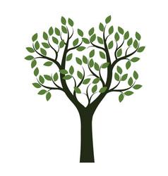 Green shape of tree vector