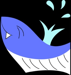 Happy whale vector