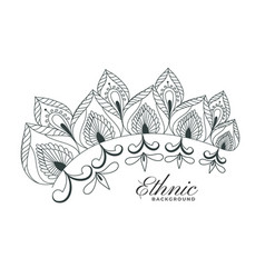 Indian henna style floral decoration design vector
