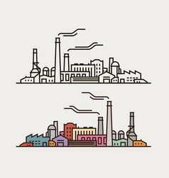 Industry concept industrial enterprise factory vector