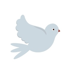 Isolated dove bird design vector image