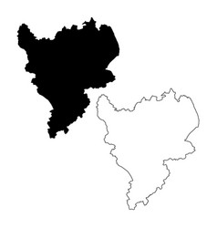 Map east midlands england black and vector