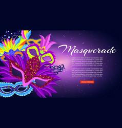 masquerade carnival or mardi gras banner vector image