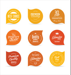 modern badges orange collection vector image
