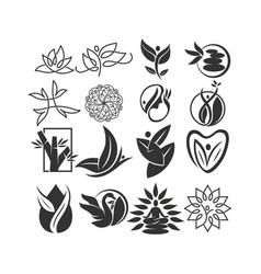 Nature spa logo collection design icon template vector