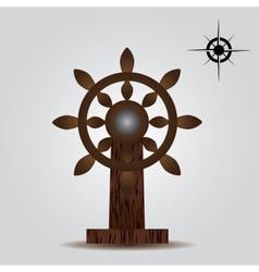 Nautical wood rudder eps10 vector