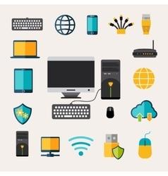 Network Gadget Set vector image